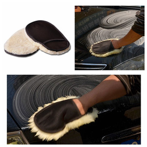 Wool car cleaning gloves car washing gloves household single side cleaning car beauty waxing tool multi-function