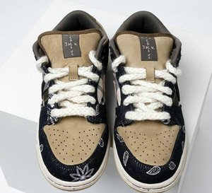 Travis Scott x SB Dunk Low Skateboarding Shoes Men Women Cactus Jack Parachute Beige Petra Brown Black Sneakers