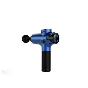Hochwertiger elektrischer elektrischer 2400mAh-Akku 24V Ganzkörper-Massagegerät 20 Gänge bürstenlos Motor-LED-Touchscreen-Vibrationsmassage-Waffe