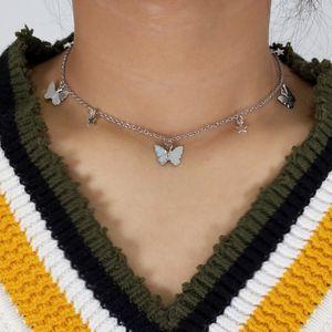 الحيوانات الصغيرة الفراشة نجوم سلسلة القلائد للمرأة الساخن بيع الذهب فضي اللون عظم الترقوة سلسلة القلائد مجوهرات اكسسوارات