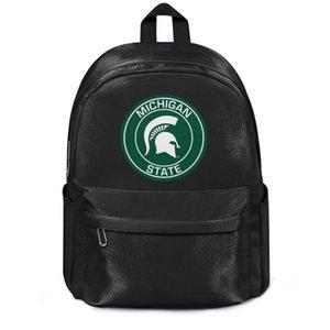 Michigan State Spartans Ronda insignia de la manera reutilizable saco de lana hombro equipo de mochila Mochila Diseño Loco personalizada Escuela de lana