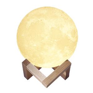 Touch Sensor 3D Moon Light / remoto luz de la noche del dormitorio de control de la novedad luna de la noche de la lámpara LED para Bebés y Niños Niños de Navidad