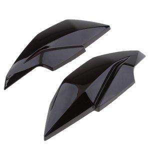 2x Motor faro della lampada della testa superiore laterale della carenatura della copertura dello schermo per Kawasaki Z250 2013-2015 (nero)