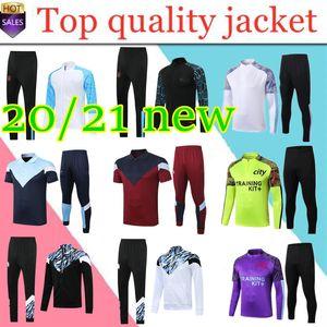 new2020 manchester training suit survetement football tracksuit sweater 19 20 21 KUN AGUERO MAHREZ soccer jacket Jogging chandal futbol city