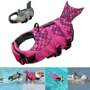 Haustier Hund Schwimmen Schwimmweste Schwimmweste Schwimmweste Adjustable Lebensretter Aid Hundeschwimmweste Shark Pet Jacke Schwimmkleidung