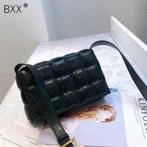 [BXX] cuero genuino bolsos de Crossbody para las mujeres 2019 Diseño elegante mensajero del hombro del bolso femenino de viaje bolsos y monederos a27