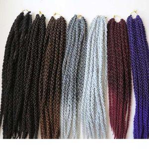 A 120g 22inch 3d Cubic Twist Синтетические плетение волос вязания плетенки Havana Mambo Сенегальские Twist Наращивание волос больше цветов