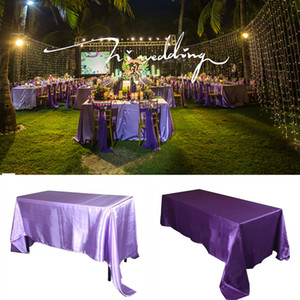 145x320 سنتيمتر أبيض / أسود مفارش المائدة الجدول غطاء مستطيل الحرير سماط ل حفلة الزفاف فندق ولائم الديكور