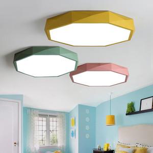 Salon Yatak odası İç Aydınlatma için ultra ince Pratik 5 cm LED Tavan Lambaları Demir Yuvarlak Siyah / Beyaz Renk Tavan Lambaları