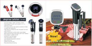 Mowell Vacuum Slow Sous Vide Beef Cooker 1500W Potente circulador de inmersión - Pantalla LCD digital con temporizador de acero inoxidable