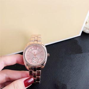 Hot Selling Casual Quartz M Watch Luxury Diamond Fashion Lady Watch DZ7333 Steel Belt Folding Buckle M-SET 7086Y