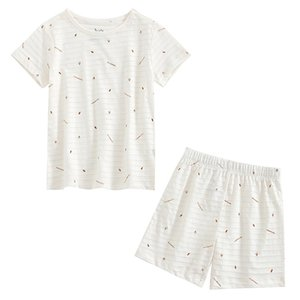 Hugs Baby Pajamas Childrens Home Clothes Baby Air Conditioning Clothes Thin Short-Sleeved Cotton 2020 Summer Baby Suit