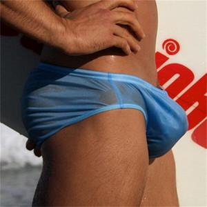 Gli uomini dello Swimwear di nuotata pantaloncini a vita bassa Nuoto Trunks costume da bagno sexy Gay Swim slip Uomini sport Surf Beach Shorts costume da bagno sunga