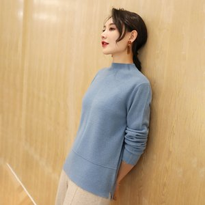 Round neck lady sweater new undershirt commuting style madam woolen sweater 2020 autumn winter high-end quality
