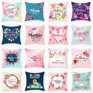 Mutter Tag Kissenbezug glücklich Abdeckungen Haus Sofakissenabdeckung Bürositzkissen Pfirsichhaut pillowcase Mutter Tag