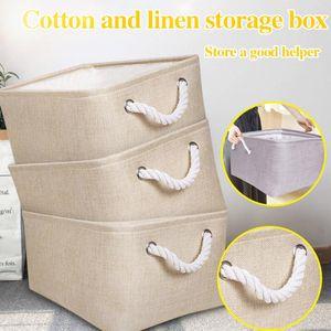 #H30 Foldable Desktop Storage Basket Sundries Storage Box Underwear Cosmetic Organizer Jewelry Scarf Socks Basket Bags