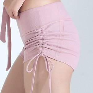 Pantaloncini Yoga Trainning Esercizio Sport Shorts Lace-Up Women stretta in corso di ginnastica di yoga fitness allenamento Esecuzione X345B