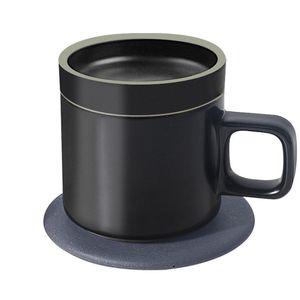 55 °C Constant Temperature Cup Qi Fast Quick Wireless Charging Ceramics Insulation Coffee Mug Intelligent Electric Heating Coffee Mugs