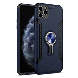 Finger ring holder Phone Case Shockproof pattern Magnetic Bracket Vehicle Airoutlet back Cover For Samsung S20 Ultra S20+ iPhone 11 Pro Max