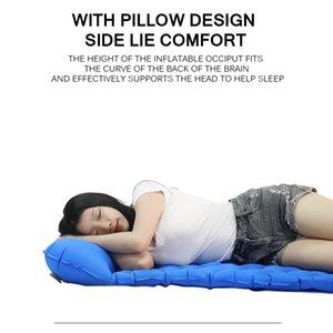 Inflatable Tpu Sleeping Mat Sleeping Pad Camping Air Lounger Sofa Mat With Pillow Air Sleeping Cushion Sponge Takht Mattress