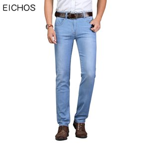 Herren Business Casual Jeans Stretch Slim Straight Denim Jeans Baumwolle Komfortable Classic Light Color Hose 2019 Jean Homme