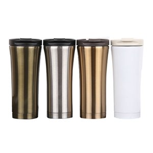 UPORS New 500ml Coffee Mug Stainless Steel Thermos Cup Double Wall Coffee Tea Beer Mug Water Bottle Thermocup Outdoor Travel