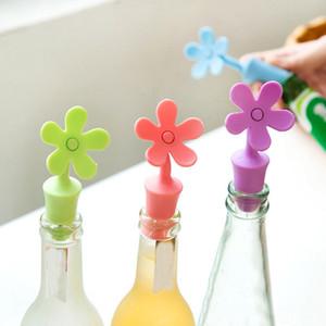 vin silicone de qualité alimentaire bouchon garder écologique la fleur bouchon de bouteille fraîche bouteilles saveur de la bière en forme de bouchon de vin DHL WX9-1909