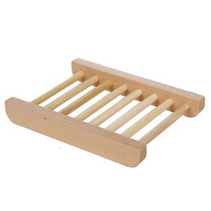 Commercio all'ingrosso di bambù naturale Casa uso di stoccaggio in legno porta sapone piatti, mestiere di legno Bagno vassoio del sapone Soap Rack Box Container DH0179