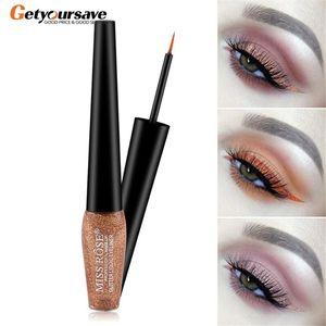 sombra Miss Rose Líquido Eye Glitter EyeShadow Pen Waterproof Longa Duração Shimmer brilho metálico Liner Partido Cosmetic Eye Makeup