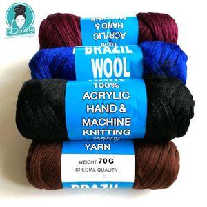 Для плетения 70g в пучке бразильского шерсти волосы антипирена синтетического волокна для коробки кос Сенегальских Twist кос