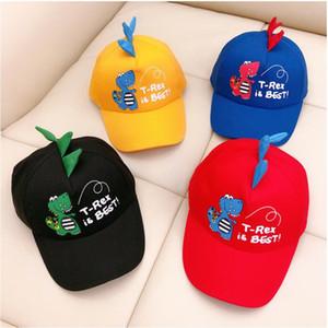 Детские шапки Sun Baseball Cap мультфильм Динозавр младенца Мальчики Девочки Caps Мода малышей младенца Hat Дети Дети бейсболку Бесплатная доставка