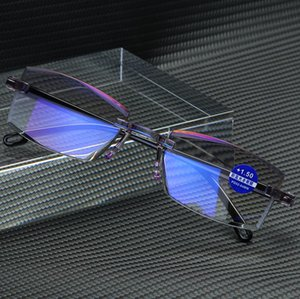 Ultralight Rimless Reading Glasses Women Men Anti Blue Light Computer Reading Glasses Presbyopia for Women+1.0 +1.5 +2.0 +2.5 +3.0 +3.5 +4.0