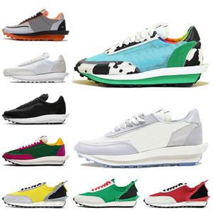 Nike Blazer Sacai LD waffle daybreak Женщины Мужчины Кроссовки Оптом Высокое качество на складе x Нейлон белый черный Сосновый зеленый Gusto Varsity Blue кроссовки кроссовки