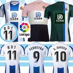 RCD Espanyol R.D.T 19 20 İspanya LA liga Tayland İspanyol futbol forması S.DARDER WU LEI Ferreyra formaları erkekler Camiseta de Fútbol Üniforma