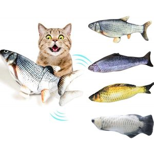 Electric fish Electronic Pet Cat Catnip Toy Electric USB Charging Simulation Fish jump fish Dog Cat Playing Biting Chewing Training Pets Sup