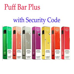 New 800+ Puff Bar De plus 550mAh Puff Plus avec 3,2 ml Code de sécurité prérempli jetable Vape Pen POD bâton style dispositif Starter Kit