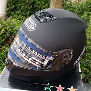 Filp Up Safety Helmet Winter Season Motorcycle Helmet Double Visors Cool Men riding casco Racing Motorbike Full face