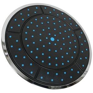 1pc 25 centimetri di plastica di forma rotonda a pioggia alimentato doccia in camera top doccia tetto testa ugello accessori cabina