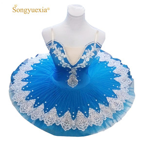 2017 Songyuexia Professional Puff Skirt Ballet Dance Costume for Children and Adults Blue tutu skirt 10colors