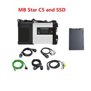 Wifi MB Star C5 SD Connect Câbles complets avec logiciel multi-langues SSD de vitesse rapide super mb star c5 Ensemble complet de diagnostic