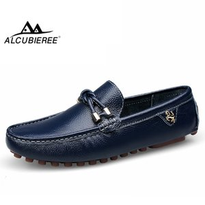 ALCUBIEREE Loafers for Man Casual Driving Shoes Male Slip-on Mocassin Soft Breathable Men Flats Men Gommino Boat Shoes