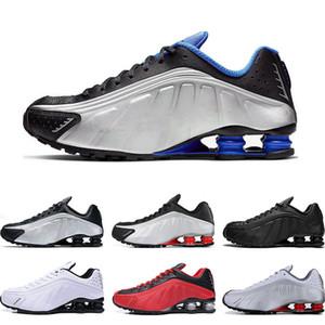 Shox shoes Оптовая R4 NZ Дизайнер Runninh обувь для мужчин черное золото металлик красный COMET OG RACER BLUE мужские спортивные спортивные кроссовки Размер 40-45