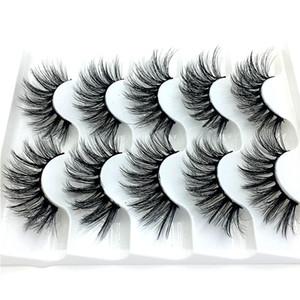 2020 NUOVI 5 paia 100% reale visone ciglia 3D naturale cigli falsi Mink Lashes morbida estensione del ciglio di trucco del corredo Cilios 016