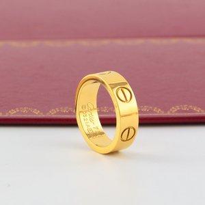 nouveau Fema Titanium amant Marque mariage acier bande Logo Bague femme Homme luxe CZ Zirconia or rose Bagues de fiançailles bijoux pour hommes Cadeaux