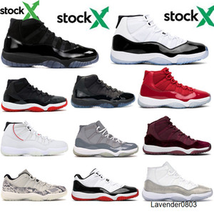 Jumpman Corcond Breed 2020 11s jordon basketball shoes Cap and Drop Space Jam Heire Black Platinum Tint men women sneakers US5. 5-13