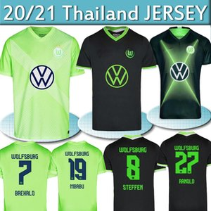 Thaïlande VLL VLL Wolfsburg Soccer Jersey Wehorst Arnold 20 21 Malli Brekalo Shirt de football Mehmedi Chemise de football Guilavogui Xaver Jerseys 2020 2