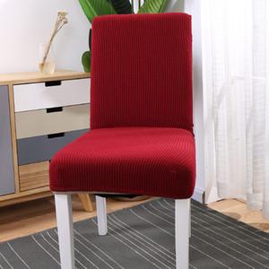 Super Soft Polaire Chair Fabric Cover Chaise élastique Couvre Spandex pour Cuisine / mariage Chaise moderne Covers Salle à manger