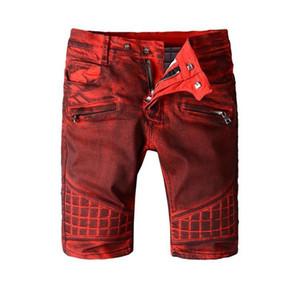 Designer Mens Summer Brand Denim Shorts Luxury B Style Jeans Shorts Fashion Vintage Type Wne Red Mens Summer Beach Causal Shorts