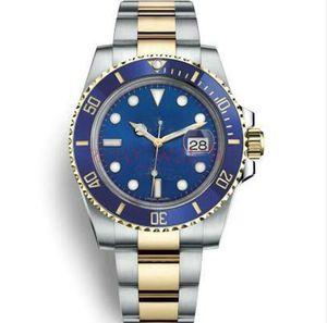 часы Бизнес автоматические механические качественные часы керамическая рамка Черный циферблат с подсветкой из нержавеющей стали