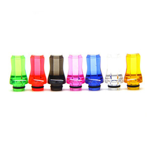 510 Drip Tip Helical Flat Tips Mouthpiece EGO AIO Tips 510 For Melo Tank TFV8 baby Crown